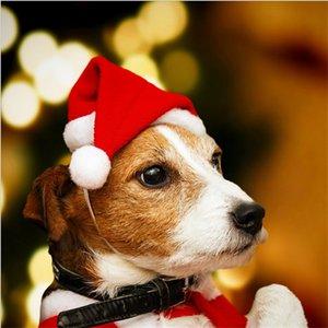 Pet Santa Hat Noel Kedi Köpek Kış Sıcak Peluş Cap Noel parti dekor Şapka Komik Sevimli Hayvan Cosplay DIY Köpekler Kediler Kostüm Dekor