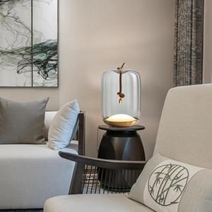 Modern Italy Melt Glass Table Lamps Living Room Bedroom Bedside Modern Lamps Warm Led Wedding Lava Lamp Decor Lights Fixtures
