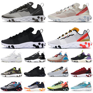 2020 nike React Vision Element 87 55 shoes des chaussures de course pour hommes femmes Light Bone triple noir blanc Crimson Gold mens formateurs baskets de sport de plein air