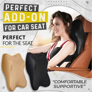 Cars Seat Headrest Pad Memory Cotton Foam Pillow Head Neck Resravel Support Breathable Mesh Fabric + Memory Foam