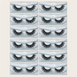 뜨거운 판매 MAGEFY 12 쌍 3D 밍크 속눈썹 자연 긴 눈 속눈썹 수제 두꺼운 검은 색 가짜 속눈썹 메이크업 미용 도구 DHL 빠른 배송