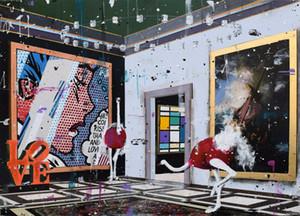 Angelo Accardi fuera de lugar Decoración pintado a mano de la impresión de HD pintura al óleo sobre lienzo arte de la pared de la lona representa 200811