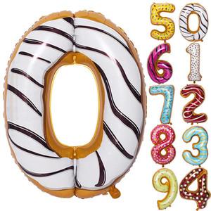 """36"""" Forniture Hawaii partito Foil palloncino colorato Numero Alluminio Palloncini Air Balloon festa di compleanno della decorazione del partito prezzo all'ingrosso"""