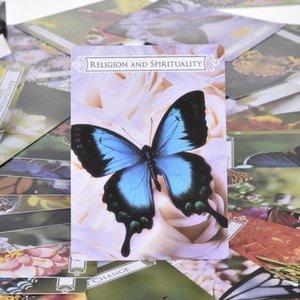 44 Schmetterling Oracle Cards For Life Changes Tarotkarten Spielbrettspiel-Party-Geburtstags-Geschenk-Brettspiel-Karte bbypoc yhshop2010