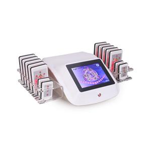laser portable professionnel Lipo amincissant la machine 14 tampons Lipo Laser Équipement de beauté Poids machine perte Salon d'utilisation à domicile Livraison gratuite