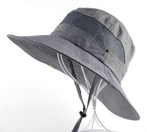 Sun Hat men Bucket Hats women Summer Fishin Cap Wide Brim UV Protection Flap Hat Breathable mesh bone gorras Beach men