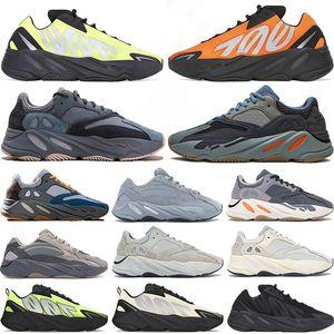 700 Wave Runner 2020 Nova Kanye Relective Laranja Tie-tintura Mulheres Teal Carbono Azul Esportes estáticos Correndo Sneakers Men Sapatos com caixa