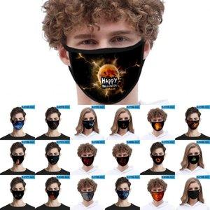 Máscaras partido de la cara de la máscara de la moda divertido de la calabaza unisex adultas Niños Cosplay algodón Máscara anti boca del polvo de la cubierta lavable reutilizable FY9184
