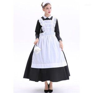 Платья Halloween Женщины Домработница Тема Костюм баварского Nation костюм театра Sexy Maid Night Club Cosplay