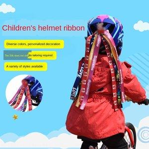 6oNJ7 cartoon casque de vélo coulissant voiture équilibre enfants décoration personnalisée Roller Skating vélo poupée ruban poupée ruban tresse