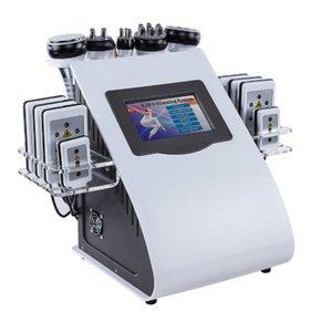 6'da 1 Ultrasonik 40K kavitasyon vakum kavitasyon sistemi Radyo Frekansı Lipo lazer zayıflama makinesi için Selülit