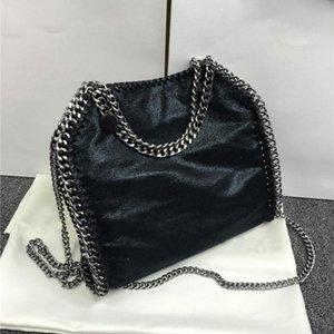 Nice- LANVERA Pop Tide 2 Chaînes Fashion PVC Sac bandoulière femme célèbre marque design rabattable Messenger Bag Lady chaîne sac à bandoulière