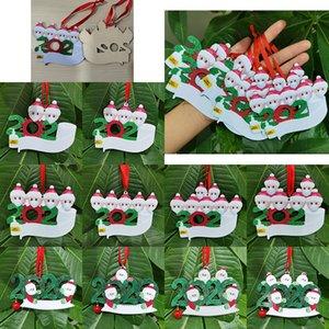 2020 Noel Süsler Noel ağacı Süsler DIY Adları ve bereket Noel Pendant Yüz Maske Ahşap Kardan Adam XD23981