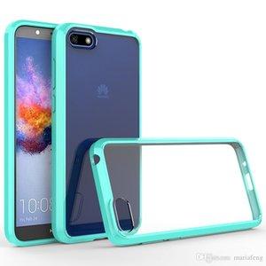 cgjxsFor Huawei Y5 Y6 Y7 Prime 2018 Htc U12 Plus-Blackberry Key2 Kristall weichen TPU Auto freier transparenter Telefon-Kasten