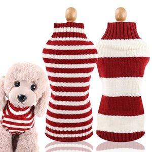 الكلب الملابس puoupuou مخطط الملابس الشتاء الدافئة معطف الحيوانات الأليفة ملابس البلوز للكلاب المتوسطة الصغيرة جرو الصوف الزي XS-2XL