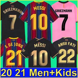 FC BARCELONA Fußballtrikot 20 21 camiseta de futbol ANSU FATI 2020 Messi GRIEZMANN DE JONG Fußballtrikots Trikot Kit Kind SETS Kinder