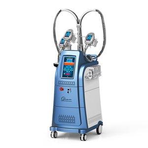 Más nueva Cryo Machine 6 en 1 Cryolipolysis Free Freeze Slimming Cryoterapy Machines Cryolipolysis 40k Cavitation Machine con 3 asas Cryo