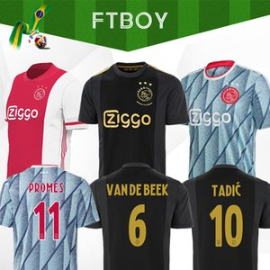 20 21 Ajax FC calcio assente Jersey PROMES Ajax Amsterdam VAN DE BEEK Neres 2020 2021 TADIC ZIYECH FOOTBALL SHIRT MEN + kids kit SET 50TH uniforme