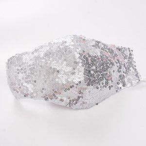 Bling Mouth Mask Rhinestone Masquerade Crystal Face Veil Decoration Christmas Masks Club Mask Gold Glitter Face Dust Cover Party Mask
