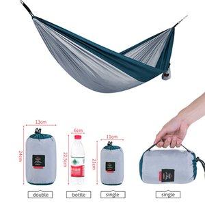Zelte und Schutzhütten Hängematte für 1-2 Person Top Rated Qualitätsausrüstung im Freien Rucksackliste Camping Reise Tragbares Leichtweihnachts-Parachute Nylon