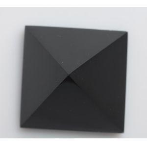 Obsidian quarzo HJT nero all'ingrosso Piramide 178g Healing decorazioni Nunatak cristallo 5,6 centimetri Naturale Reiki jjxh BQIVi