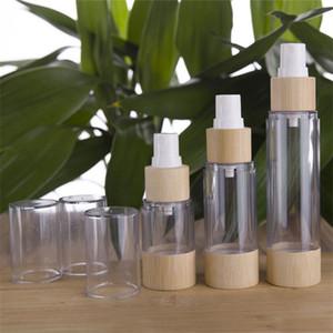 Botellas de perfume en spray desinfectante de la mano botella vacía de plástico bambú partido Lavado Traje saludables compacto cosmético 7 4zb F2