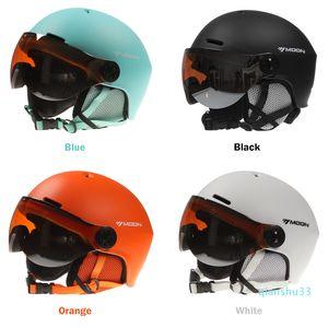 Сноуборд Шлем с Earmuff Goggle Мужчины Женщины безопасности лыжах шлем Professional лыжам Snow Sports Helmet