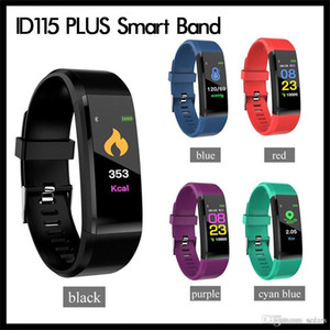ID115 PLUS Smart Bractelet Fitness Tracker Smart Watch Beart Rate Bidd Bidd Smart Band для Apple Android Cellphones с розничной коробкой