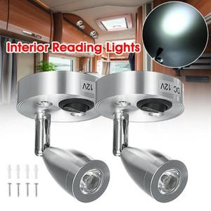 DC12V 3W 6000K cold white LED Spot Reading Light RV Camp Boat Lamp Interior Lighting Bedside Caravan Trailer Home Wall Boat G3L7