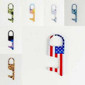 cadeia quente Key Acrílico Non-Contact Door Opener Key Touch gancho Maçaneta Key Elevador Ferramenta 18 estilo Partido EWC1012 Favor