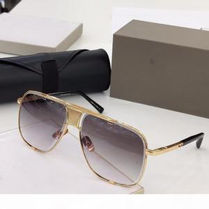 vaka ile en kaliteli lüks MACH klasik beş güneş gözlüğü erkek tasarımcı metal bağbozumu moda tarzı açık gözlük kare kare UV 400 lens