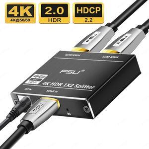 Splitter 4K HDMI Switcher Birichtung 1x2 Adapter Audio-Extr Schauspieler Video Converter Selector Multimedia für PS4 Xbox HDTV