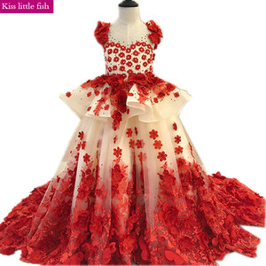 2020 Free shipping Custom made Luxurious Girls dresses for party and wedding Pageant dresses for girls