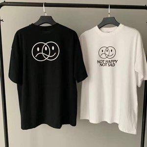 Uomini donne superiori VTM Tee VETEMENTS negozio non FELICE maglietta non triste 2021SS Oversize ricamo VETEMENTS T-shirt casual