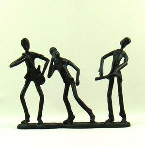 Mecedora de metal venda miniatura moldeada Abstractiva Hierro Hippie Figurita Decor Craft del ornamento por regalo del recuerdo y la Colección de Arte