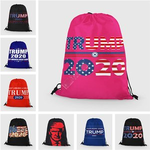 Donald Trump 2020 Drawstring Shoulder Bags Unisex Backpack Large Wallets Purses Storage Totes Fashion Sports Travel Packs 35*42cm D91704