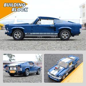 Новый 21047 Blue Dream Car Model Model Crossible Expert 10265 Строительные блоки Кирпичи Образовательная игрушка Дня рождения Подарок