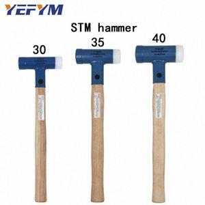 30mm-40mm Cara Tap Nylon / Acero Hammer Para multifuncional herramienta de mano de plástico duro y Walnut herramientas de diámetro mango de madera # 7BCo