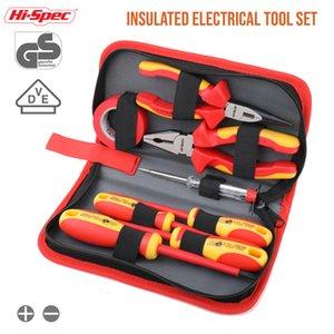 Hi-Spec 8pc VDE 1000 V Aprobado herramienta de electricista aislado conjunto S2 magnética del destornillador de la probador eléctrico de corte de cinta Alicates LJ200815