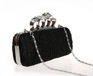 New-Damen Abendtasche für Party-Tageskupplungen Knuckle Boxed Kristall Clutch Bag Cvening für Hochzeiten HQB1716
