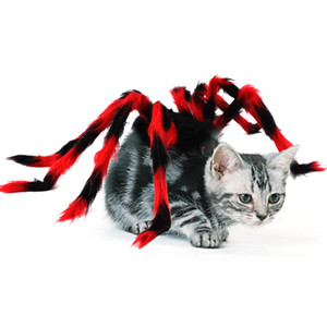 Funny Halloween Pet Spider Clothes Plush Spider Puppy Cosplay Costume for Dogs Cats Party Cosplay Funny Outfit Festival Clothes Decoration