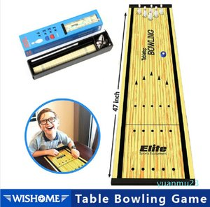 Hot sale-Table Bowling Shuffleboard Curling Board Game for Travel Bar School Training Family Puzzle Children' Sports Toys 28*120 cm T200723