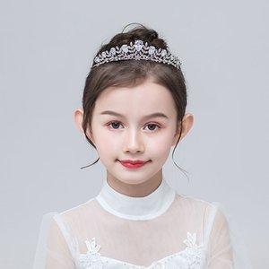크라운 공주 한국어 스타일의 크리스탈 지르콘 크라운 걸스 성능 어린이의 성능 드레스 액세스를 액세서리 드레스 크리스탈 아이 머리