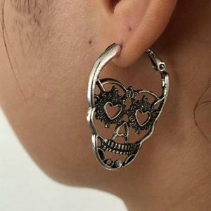 Skeleton Stud Earrings Human Skeleton Studs Retro Hollow Skull Earrins for Women Fashion Jewelry Holiday Gifts