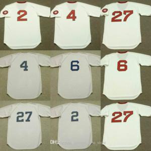 Boston 2 Jerry Remy 6 Rico Petrocelli 4 Butch Hobson 27 Carlton Fisk Red Sox baseball jersey cucita 05