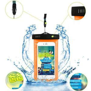 Piscina de buceo deportivo para el iphone 6 más noctilucentes impermeable del teléfono Bolsas bolso de la caja protectora de PVC móvil de la bolsa titular caso DH1129