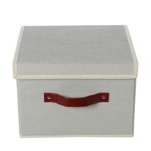 non woven fabric fashion foldable cloth storage box with cardboard