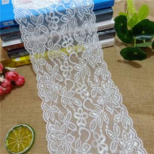 15.5cm E2750-1 High quality white stretch soft mesh eye crochet spandex French lace dress fabric shirt jeans curtains