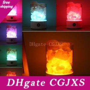 Usb Crystal Light Natural гималайская соль лампа водить очиститель воздуха Mood Creator Крытый теплый свет Настольная лампа Спальня Lava Lamp