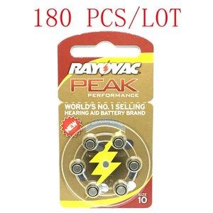 180 السمع قطع RAYOVAC الذروة الزنك الهواء بطاريات المعونة A10 10A ZA10 10 S10 بطاريات لأجهزة السمع على السمع LJ200831